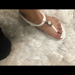 Authentic Coach white sandals